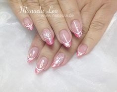 Mani Pedi, Manicure, Pink Nail Designs, French Nails, Makeup, Art Ideas, Nail Art, Fingernail Designs, Nail Art Design Gallery
