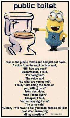 #funny #minion #joke About Public Toilets