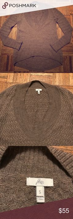 Joie Woven Knit Sweater Size Small Joie  woven knitted sweater. This is an oversized, super cozy sweater. Perfect for those really cold days. The color is a brown, tan color. Size Small Joie Sweaters