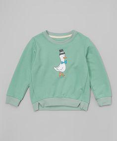 Another great find on #zulily! Mint Duck Crewneck Sweatshirt - Toddler & Kids by Leighton Alexander #zulilyfinds