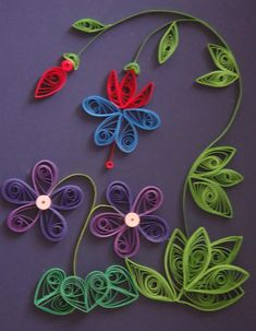 quilled flowers by escaping-this-world on DeviantArt Arte Quilling, Paper Quilling Cards, Paper Quilling Flowers, Paper Quilling Patterns, Quilled Paper Art, Quilling Paper Craft, Paper Crafts, Quilling Flower Designs, Quiling Paper