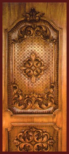 A door to the guest house wood doors flower designs and