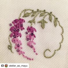 Embroidery Stitchery BEAUTIFUL!! by atelier_ao_mayu on Instagram. jwt