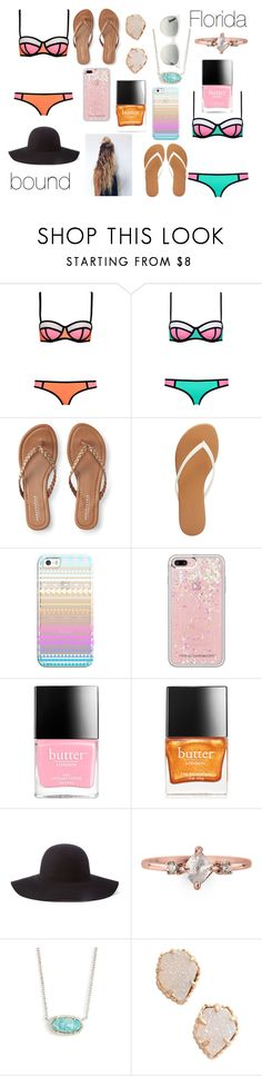 """Florida Bound"" by beccastylesxoxo ❤ liked on Polyvore featuring Aéropostale, Charlotte Russe, Casetify, Rebecca Minkoff, Butter London, Scala, Kendra Scott and Ray-Ban"
