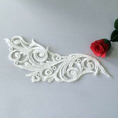 Lace Collar Wholesale 2Piece Handmade DIY Clothes Accessories Lace 100% Cotton White Flower Laciness Trim -- Be sure to check out this awesome item.
