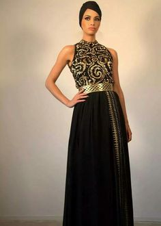 Black/gold morrocan dress