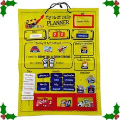 Learning Calendar for children - a perfect gift this Christmas! Available on Amazon. http://www.amazon.com/Kiserena-First-Daily-Planner-hanging/dp/B014ID1IGO/