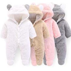 New Born Baby Clothes Winter Newborn Baby Romper For Boys Animal Fleece Soft Thicken Baby Girl Romper Hooded Baby Jumpsuit Boys Baby Outfits Newborn, Baby Boy Outfits, Kids Outfits, Winter Outfits, Baby Bear Outfit, Newborn Girls, Baby Newborn, Warm Outfits, Winter Newborn