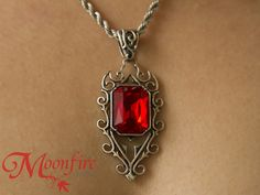 THE MORTAL INSTRUMENTS Isabelle Lightwood Ruby Quote Necklace – Moonfire Charms