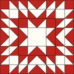 Block Twenty in Red and White. Quilt Square Patterns, Barn Quilt Patterns, Patchwork Quilt Patterns, Pattern Blocks, Square Quilt, Barn Quilt Designs, Quilting Designs, Christmas Quilt Patterns, Christmas Quilting