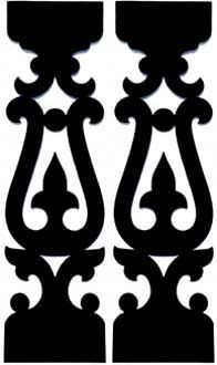 Victorian Gingerbread Turned Balusters, Sawn Balusters, Porch Rails, Porch Posts from Empire Woodworks - Victorian Gingerbread Woodwork Victorian Porch, Vintage Porch, Porch Balusters, Railings, Porch Brackets, Cnc Cutting Design, Scroll Saw Patterns Free, Porch Posts, Cardboard Sculpture
