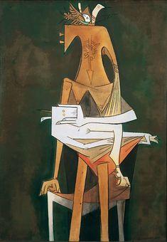 Wifredo Lam, Maternité, oil on canvas, ca. 1953