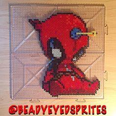 Deadpool perler beads by  beadyeyedsprites