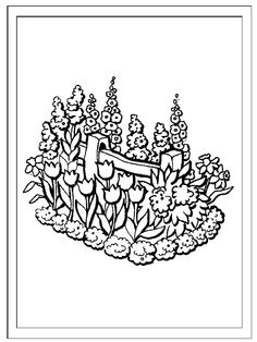 Flowers and garden theme coloring pages and alphabet printable activities for preschool & K.
