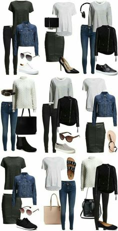 Hey, I think I own almost all of these things. So is my capsule wardrobe sorted? - Hey, I think I own almost all of these things. So is my capsule wardrobe sorted? 🤔 Source by - Capsule Outfits, Fashion Capsule, Mode Outfits, Capsule Wardrobe, Fall Outfits, Summer Outfits, Fashion Outfits, Womens Fashion, Fashion Trends