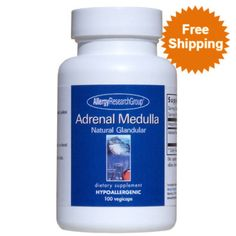 Adrenal Medulla 100 vcaps  Hypoallergenic Dietary Supplement  Supplement Facts Serving Size: 1 Capsule Servings Per Container: 100  Amount per Serving Adrenal Medulla (Bovine , Lyophilized) 100 mg  Other Ingredients: Hydroxypropyl methylcellulose, microcrystalline cellulose, L-leucine.