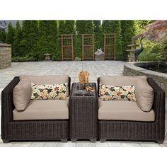 TK Classics Venice 3 Piece Outdoor Wicker Patio Furniture Set 03b