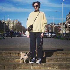 "Marzia Bisognin   maya   yellow jumper   shades   black bag   black converses   ""Posting this cause Felix says I look cool. """