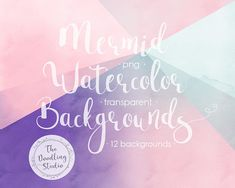 ● Watercolour Mermaid Ultraviolet Background Textures - 12 BACKGROUNDS (png, transparent, bendable) ●  --- The pack includes: ---  12 images in transparent png format in 300dpi (1920x1080px). Each one is unique! And you can overlay them since theyre transparent.  #mermaidbackground #mermaidlife #ultraviolet #seabackground #quotebackground