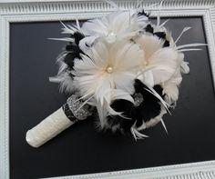 Ramo de la boda ramo de novia Novia de Gatsby broche ramo