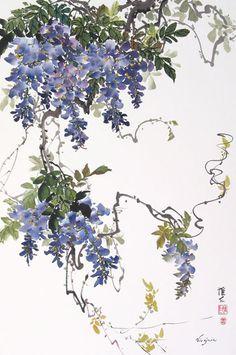 Peony & Wisteria Gallery: Chinese Brush Painting - Virginia Lloyd-Davies