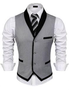 Men's Clothing, Suits & Sport Coats, Men's V-Neck Sleeveless Slim Fit Vest-Jacket Business Suit Dress Vest - Grey - C7184HLX3ZH   #Suits #Sport #Coats #men #fashion #outdoor