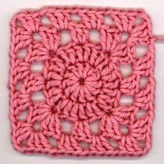 Precious Pink Squircle - cute granny square pattern