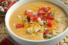 TSR Version of Chili's Chicken Enchilada Soup by Todd Wilbur. Photo by Delicious as it Looks