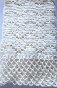 Baby Girl Crochet Blanket, Easy Crochet Blanket, Crochet Bedspread, Crochet Quilt, Crochet Square Patterns, Crochet Blanket Patterns, Crochet Designs, Filet Crochet, Crochet Chart