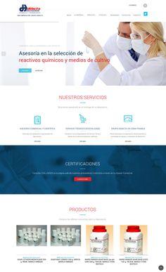 Sitio web para productos de laboratorio #Webdesign #Laboratory #GrupoDidacta
