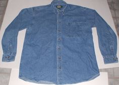 Cabelas Outdoor Gear Denim button-up Shirt L/Tall #Cabelas #ButtonFront