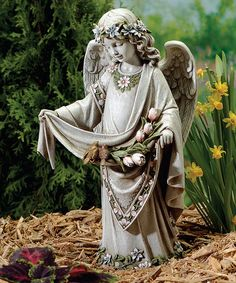 Angel U0026 Birds Garden Statue #zulilyfinds