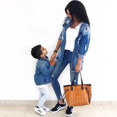 #love #denim ✌🏼  *Anzeige   Werbung da Markenerkennung Mom And Son Outfits, Mother Daughter Matching Outfits, Mom And Baby, Baby Boy, Life Tumblr, Adoption Day, Mother Son, Sons, Louis Vuitton