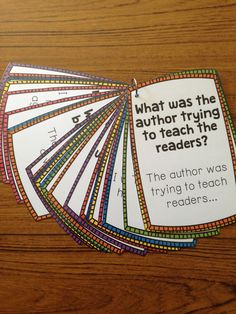 A great resource for students to use while writing about reading! Students are able to decide using the ring of cards which prompt they want to use. Sentence frames are also included to guide their writing or collaborative conversations around literature. Reading Resources, Reading Skills, Teaching Reading, Reading Groups, Guided Reading Questions, Guided Reading Activities, Reading Comprehension Strategies, Teaching Literature, Esl Resources