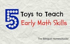 games to develop math skills and develop fine motor skills - must read!!!