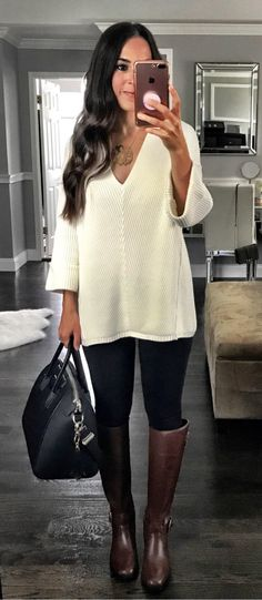 #summer #outfits Who's Living In This Outfit Come Fall? By Far My Favorite Sweater From The Nordstrom Sale And The One I've Gotten The Most Questions About But It Is Going Fast! For Reference I'm Wearing An Xs And I Love The Oversized Fit. I Also Have The Burgundy Color And It's Even Better