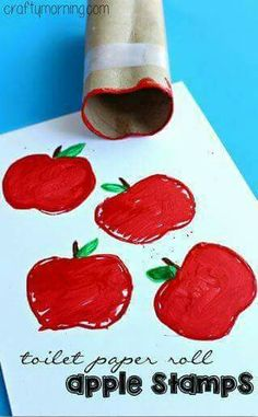 Paper roll apple stamp