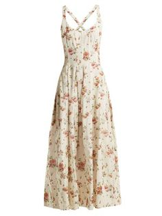 Daphne floral-print silk charmeuse dress by Brock Collection Dress Outfits, Casual Dresses, Cool Outfits, Fashion Dresses, Summer Dresses, Skater Outfits, Jeans Fashion, Traje Casual, Moda Vintage