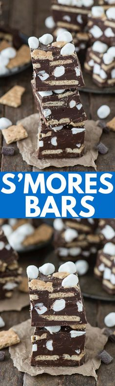 mores turned into chocolate s'mores bars! Layers of chocolate ...