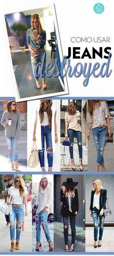 Oi #Time! Quem aí gosta do bom e velho #jeans! Se a versão #skinny está começando a dar uma trégua no guarda-roupa, o modelito #boyfried, melhor ainda se for bem #destroyed, está tomando con...