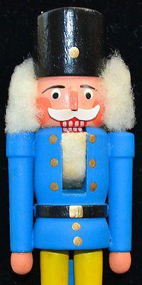 Vintage Erzgebirge German Nutcracker Blue Soldier Wooden 5 5 Dregeno with Box | eBay
