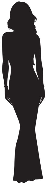 Woman Silhouette PNG Clip Art Image