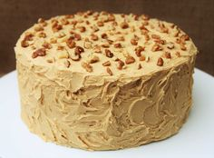 This COFFEE & WALNUT CAKE is one of my all-time favourite cakes. Lainey x