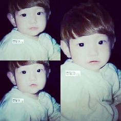 Baby Baekhyun <3 So cute <3 I want to pinch his cheeks <3 Saranghae <3