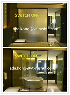 Switchable Glass Film For Hotel Partition If Interested Please Email Me Ytrushui Gmail Com Or Skype Adak157 Smart Glass Bathroom Partitions Bathroom Decor
