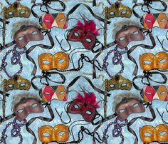 Mardi Gras fabric by koalalady on Spoonflower - custom fabric