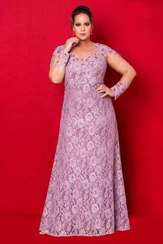 Coleção Rubi - Vestidos Plus Size - Aiza Collection Plus Size Long Dresses, Evening Dresses Plus Size, Cheap Evening Dresses, Cheap Dresses, Evening Gowns, Prom Dresses, Dress Prom, Evening Party, Summer Dresses