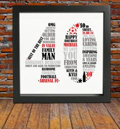 Items similar to Framed 40th Birthday Gift - 40th birthday 40th birthday gift personalized birthday print 40th birthday for him on Etsy & 48 Best husband 40th birthday ideas images | Casino theme parties ...
