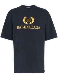 Balenciaga BB Logo t-shirt - Farfetch Balenciaga T Shirt, Bb Logo, Cat Shirts, Tee Design, Mens Clothing Styles, Printed Shirts, Classic T Shirts, Menswear, Mens Tops