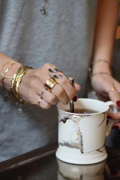 All things are possible with coffee and MF jewels ♥